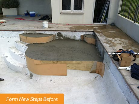 Pool Form New Steps before