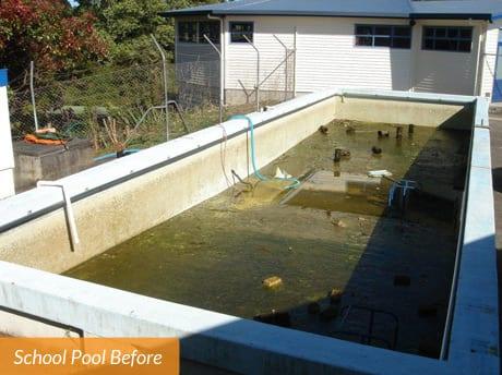 Kaurilands School Pool Before