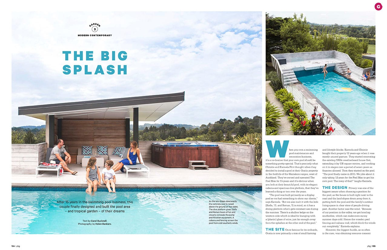 The Pool Man Featured in Your Home and Garden Magazine