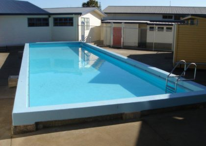 Kaurilands school pool after clean and renovation