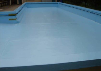 Titirangi Primary school pool after paint