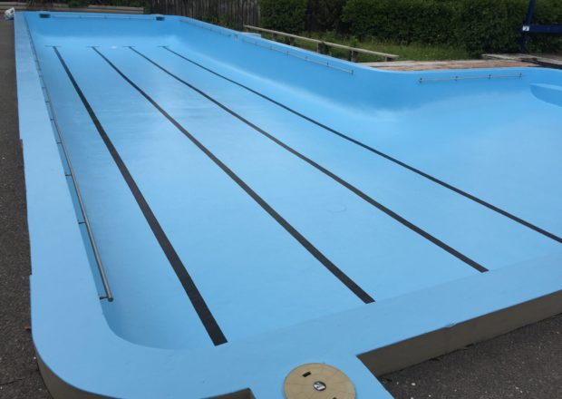 Auckland school pool after being painted
