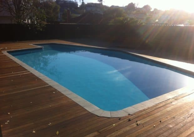 Swimming pool and deck renovation after