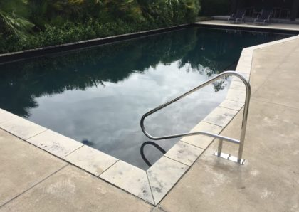 Installation of new hand rail for pool