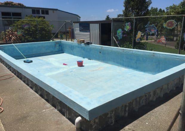 School pool before painting