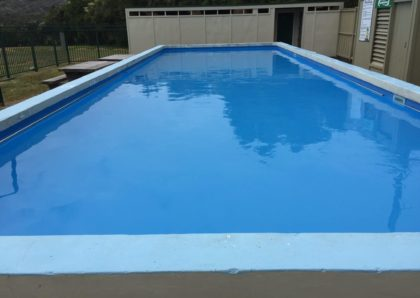 Swimming Pool chemically cleaned